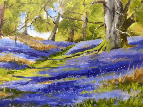 Spring Landscape Oil Painting - Spring Landscape Oil Painting – Wild At Art Scotland