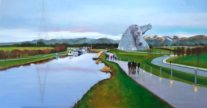 Sunday Afternoon at the Helix by Scottish artist Lesley Banks