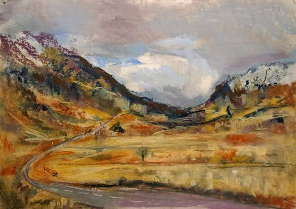 Glencoe Plein Air, Scotland, plein air landscape painting by Wild at Art tutor Karen Strang