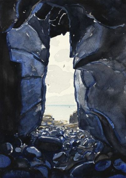 Leo du Feu, Altarstanes cave, 15x21cm