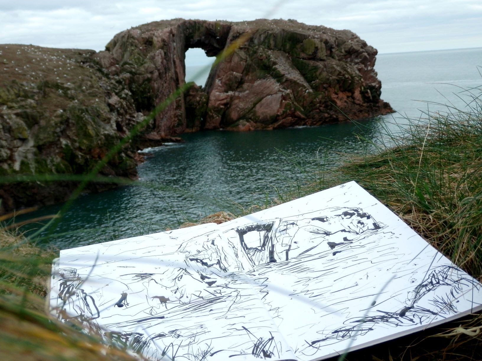 Scottish painter Leo du Feu, landscape painting